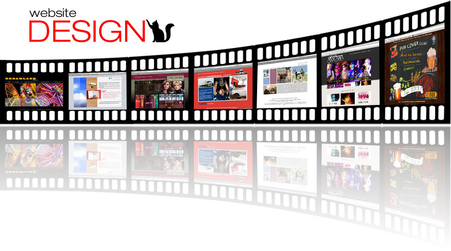 Film strip of web front pages